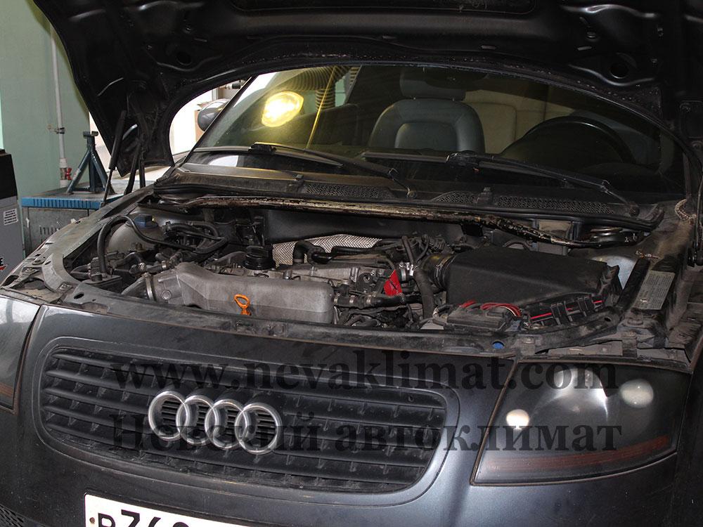 Ремонт электропроводки сиcтемы климат-контроля на автомобиле Audi TT