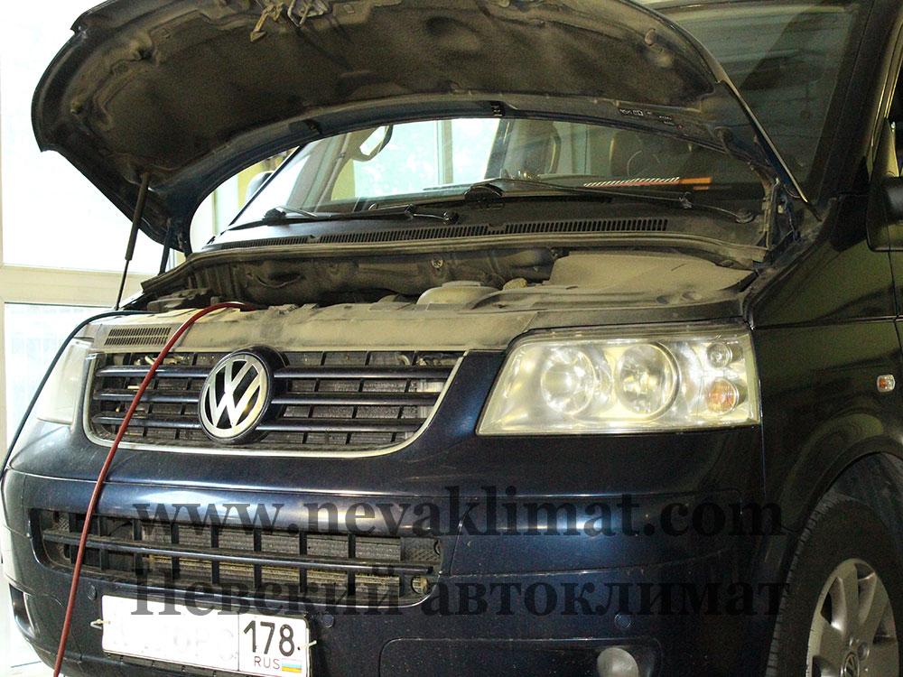 Ремонт заднего контура кондиционера на автомобиле Volkswagen T5