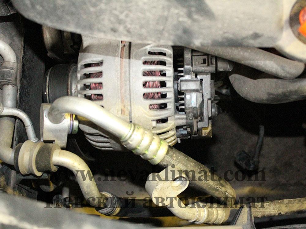 Замена компрессора кондиционера на автомобиле Skoda Octavia